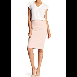 SALE ! PHILOSOPHY BLUSH PONTE FITTED PENCIL SKIRT